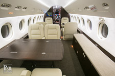 falcon black Interior aviation photography